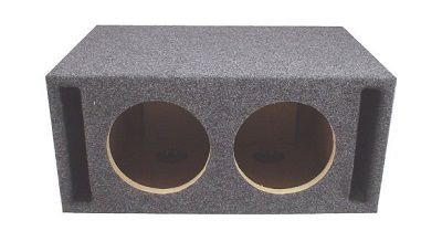 ASC Dual 8 Subwoofer Universal Slot Vented Port Sub Speaker Enclosure