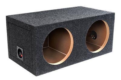 Bbox E12D Dual 12-Inch Sealed Grey Subwoofer Box Enclosure