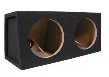 Dual 8-inch Black Subwoofer Enclosure