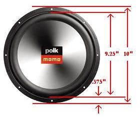 Car speakers sizes
