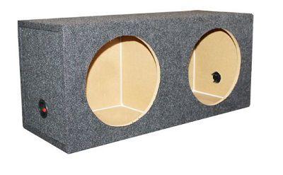 "15"" Dual Sealed Car Audio Subwoofer Sub Box Enclosure 2 Subs 15-Inch"