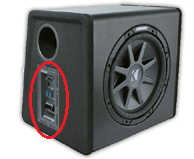 Powered UnderSeat Subwoofer