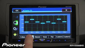 Pioneer AVH-4100NEX Head Unit Equalizer
