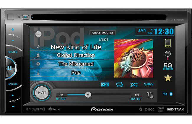 Pioneer AVH-X360BHS double din touc screen head unit front view
