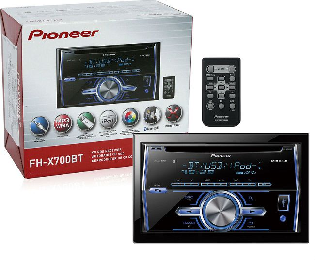 Pioneer FH-X700BT double din head unit bluetooth