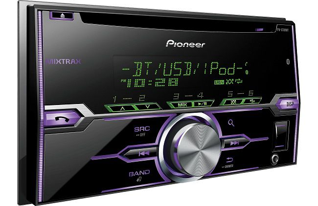 pioneer double din bluetooth head unit