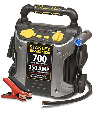 Stanley J7CS 350 Amp Battery Jump Starter with Compressor