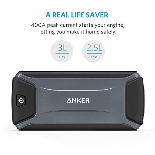 Anker Compact Car Jump Starter and Power Bank with 400A Peak Current